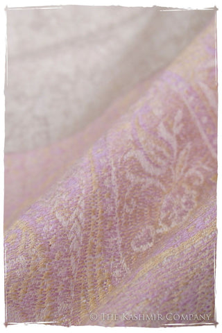 Jacquard Frontiere Lilac Taupe Cashmere Scarf