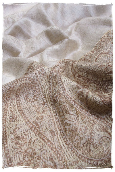 Jacquard Frontiere Henna Taupe Cashmere Scarf