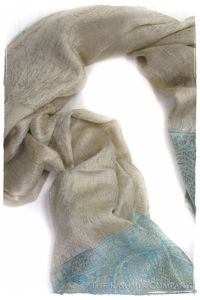 Jacquard Frontiere Capri Taupe Cashmere Scarf