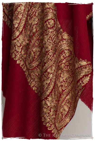 The Sophistiqué Bordeaux Royale Paisley Shawl