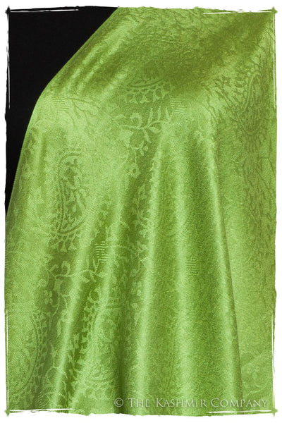 Chartreuse Royale Paisley Silk Scarf / Shawl