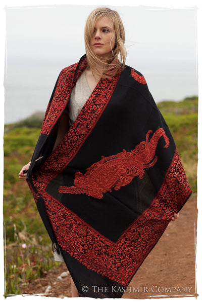 Rouille Frontiere Royale Paisly Noir Shawl