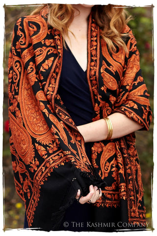 Rococo Sienna Paisley Antiquaires Shawl