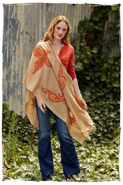 Rouille Paisley Chale Shawl
