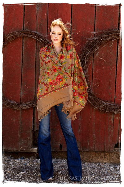 Tournesol de la Terre Renoirs Dream Shawl