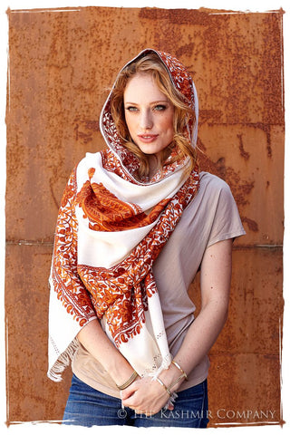 Rouille Frontiere Royale Paisly Shawl