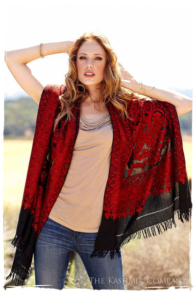 Majestic Rouge Frontière Shawl