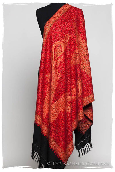 Flame Scarlet Paisley Antiquaires Shawl