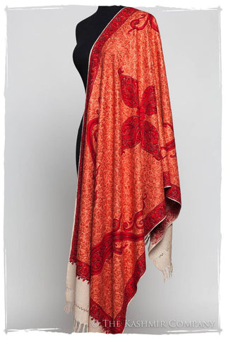 Scarlet Sunset Paisley Antiquaires Shawl