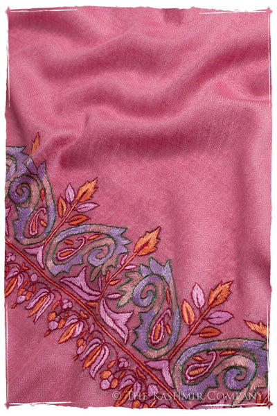 Orient Frontière Wild Rose L'amour Soft Cashmere Scarf/Shawl