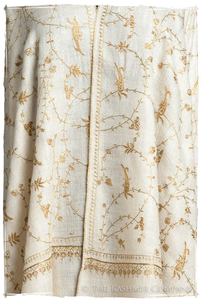 Mughal Gold Paisley L'amour Soft Cashmere Scarf/Shawl