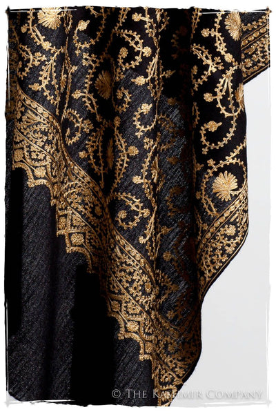 The Sophistiqué Gold Ebony Jardin Shawl