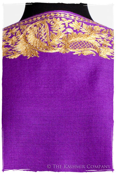 The Sophistiqué Oro Lilac Jardin Frontière Shawl