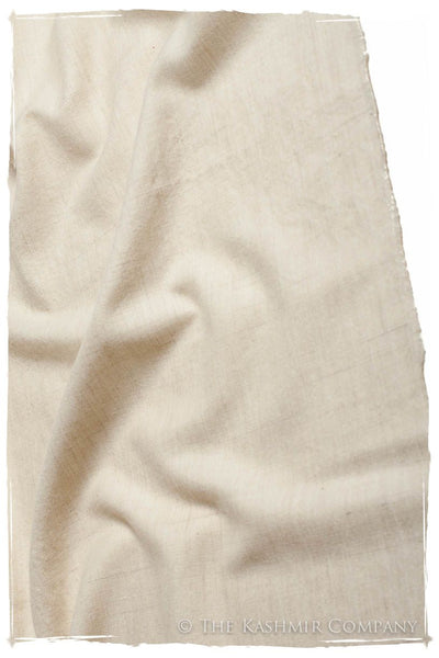 Turtledove Ivory - Le Luxe Simple - Grand Handloom Pashmina Shawl