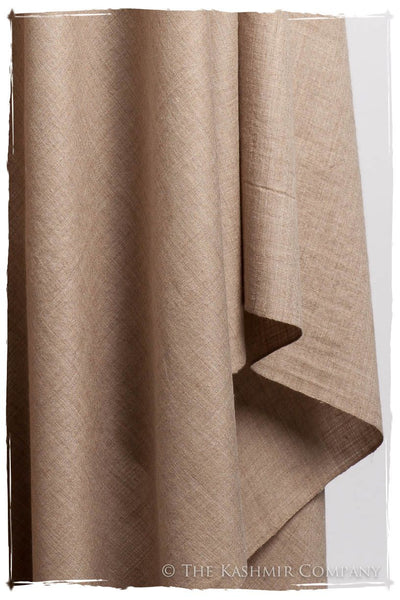 Cuban Sand Taupe - Le Luxe Simple - Grand Handloom Pashmina Shawl