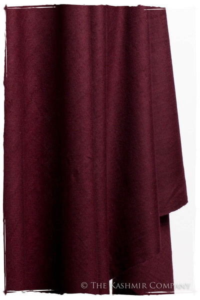 Windsor Burgundy - Le Luxe Simple - Grand Handloom Pashmina Shawl