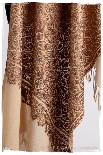 The Célébration Fabuleuse Gold Mughal Shawl