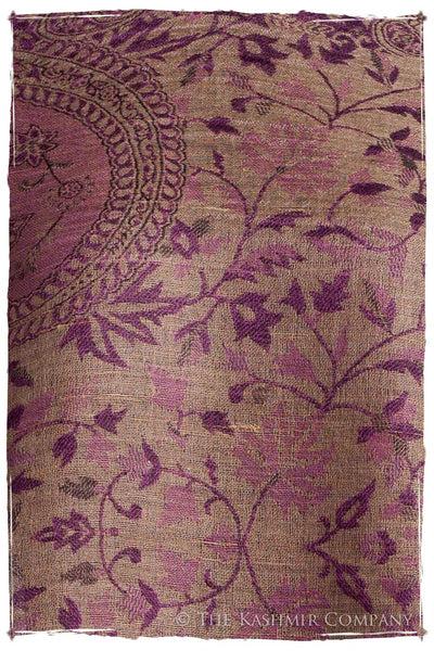 Orchidée Iris Mughal Paisley Reversible Soft Cashmere Scarf/Shawl