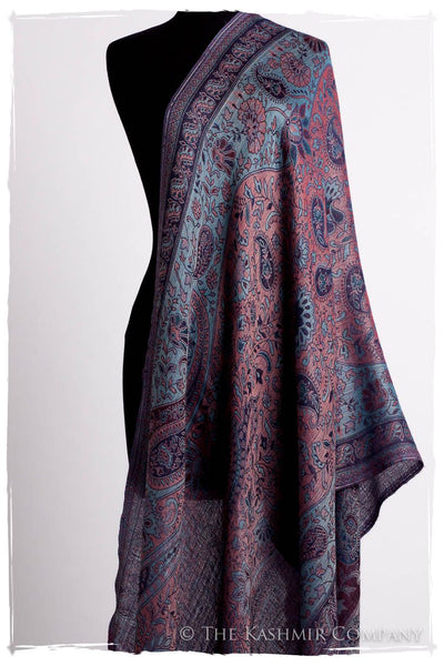 Étoile Saphir Mughal Paisley Reversible Soft Cashmere Scarf/Shawl