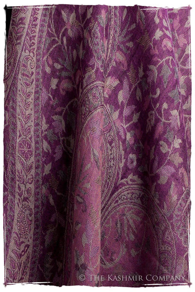 Brume d'orchidée Mughal Paisley Reversible Soft Cashmere Scarf/Shawl
