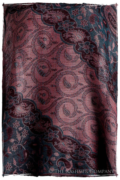 Crown Jewel Mughal Paisley Reversible Soft Cashmere Scarf/Shawl