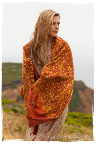 Sierra Rouge Brique Oro Secret Garden Shawl