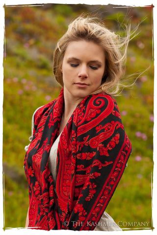 Rococo Royale Rouge Palais Antiquaires Shawl