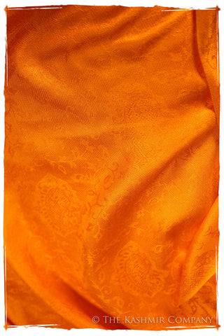 Sunset's Golden Gate -  Tangerine Gold Silk Scarf