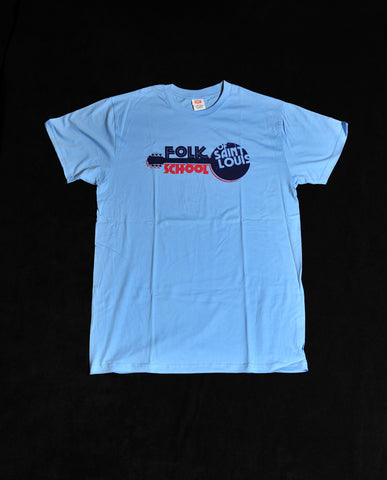 Folk School T-Shirt - Blue
