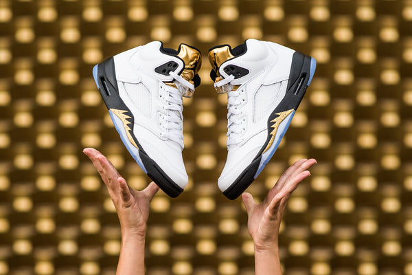 "AIR JORDAN 5 ""GOLD TONGUE"""