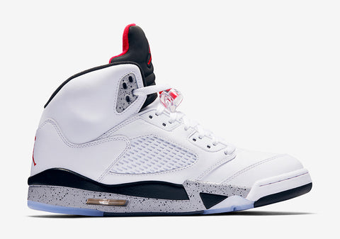 "THE AIR JORDAN 5 ""WHITE/CEMENT"" Releases August 5th 2017"