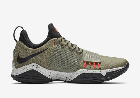 e8612b2418bf The military vibe takes after that iconic UNDFTD x Air Jordan 4 colorway  with touches of Team Orange on the Flywire cables and PG tongue logo