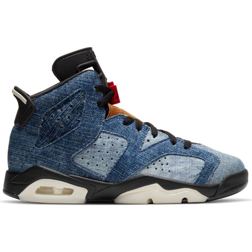 "AIR JORDAN 6 RETRO (GS) ""WASHED DENIM"" CV5489-401"