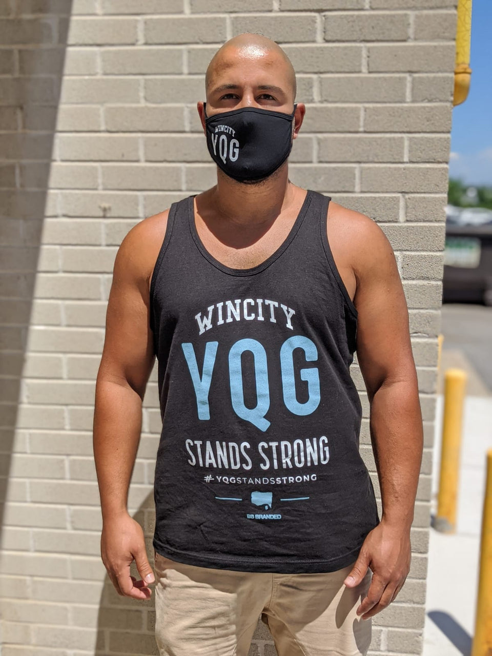 WIN CITY #YQGSTANDSSTRONG TANK TOP