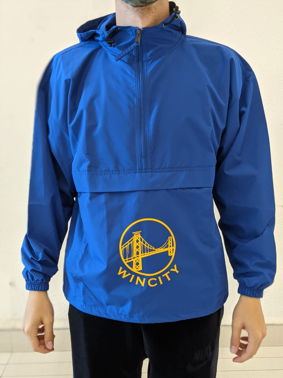 Golden City Half Zip Windbreaker