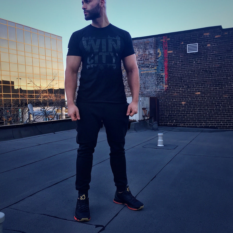 WIN CITY BLACK OUT TEE