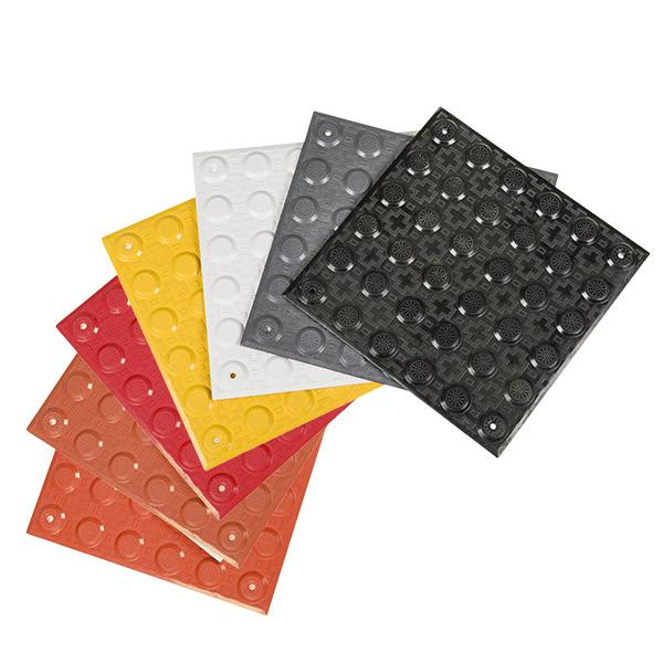 Access Tile Colors: Yellow, Black, Dark Grey, Bright White, Safety Red, Colonial Red, Brick Red