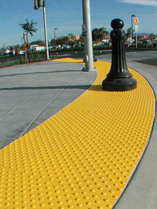 Truncated Domes ADA Access Tile - 1' x 1' Mat - Surface Mount