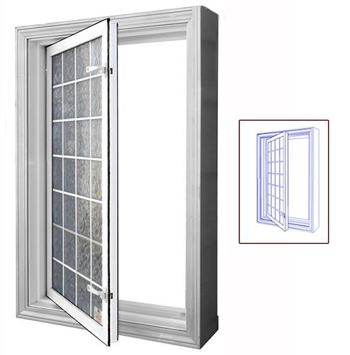 "Egress Window In-Swing 29"" x 47"" Wellcraft Acrylic Block"
