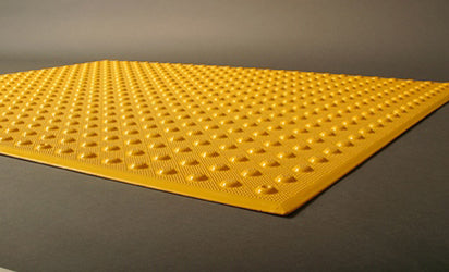 Armor Tile Surface Mount Detectable Warning Mat 2' x 2'