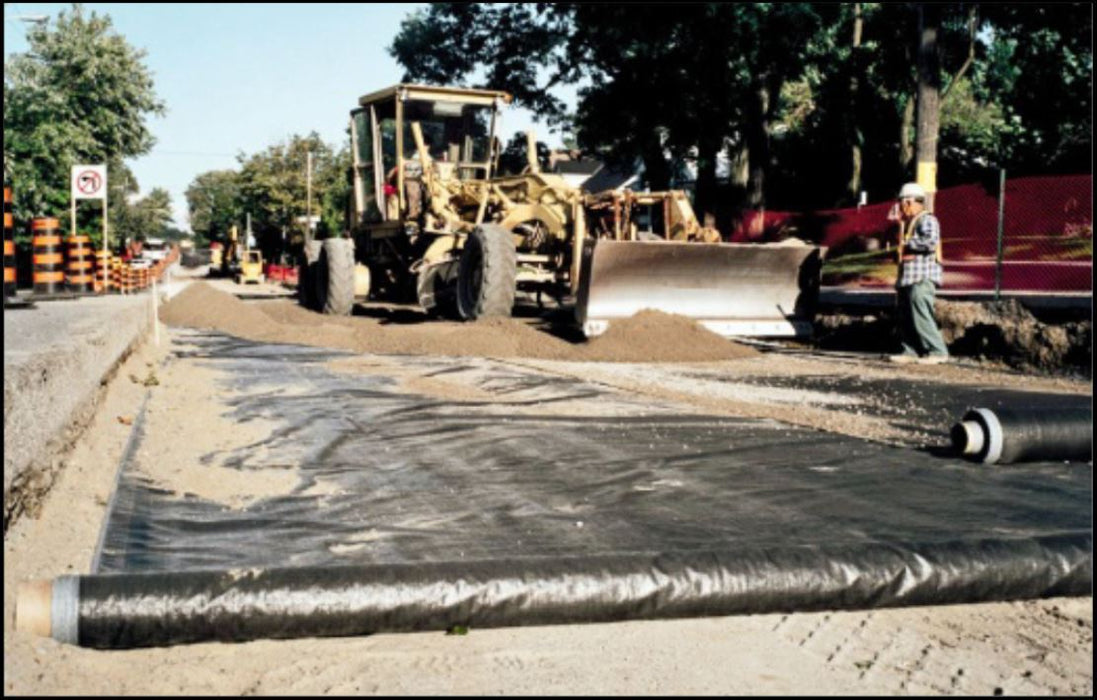 Carthage Mills Geotextile fabric installed under road