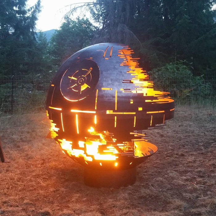 "Death Star Fire Pit - 37"" Wood Burning"