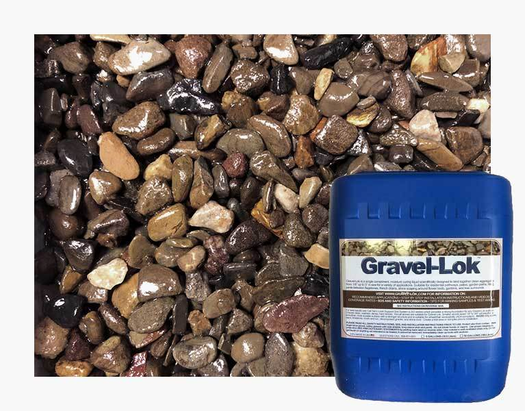 Gravel-Lok - Clear Color - Stone Binder - 5 Gallon