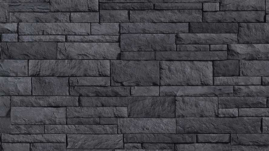 Versetta Stone Siding Northern Ash Black Color