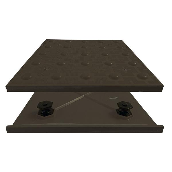 Truncated Domes ADA Access Tile - 3' x 5' Mat - Cast in Place