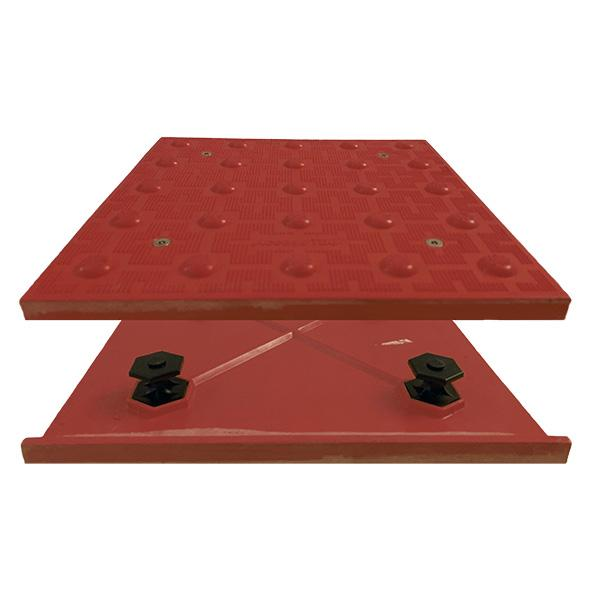 Truncated Domes ADA Access Tile - 1' x 1' Mat - Cast in Place