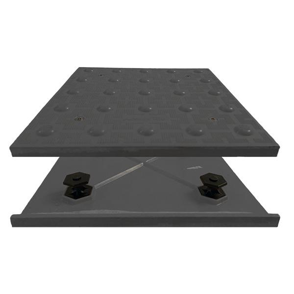 "Truncated Domes ADA Access Tile - Radius 30"" x 24"" - Cast in Place"