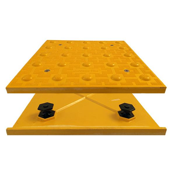 Access Tile Truncated Dome ADA Pad yellow color