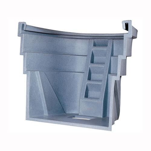 4 step gray polyethylene Wellcraft 2060 Egress Window Well