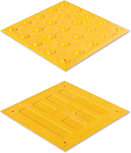 Access Tile Surface Mount Detectable Warning Mat - 1' x 1'